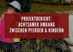 Projekt: achtsamer Umgang zwischen Pferden und Kindern